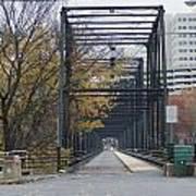 Walnut Street Bridge Looking At Harrisburg Art Print