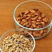 Walnuts And Almonds Art Print