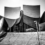 Walt Disney Concert Hall In Black And White Print by Paul Velgos