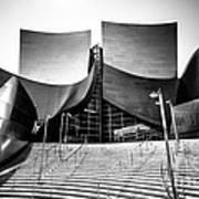 Walt Disney Concert Hall In Black And White Art Print