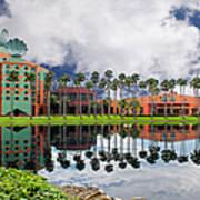 Walt Disney World Swan Hotel  Art Print