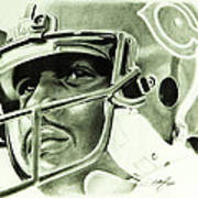 Walter Payton Art Print by Don Medina