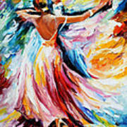 Waltz - Palette Knife Oil Painting On Canvas By Leonid Afremov Art Print