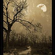 Waning Winter Moon Art Print