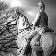 War Horses - 8th Pennsylvania Cavalry Regiment Pleasonton Avenue Sunset Autumn Gettysburg Print by Michael Mazaika