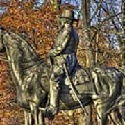 War Horses - Major General John Sedgwick Commanding Sixth Corps Autumn Gettysburg Art Print
