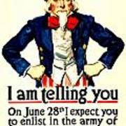 War Poster - Ww1 - Uncle Sam Savings Art Print
