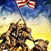 War Poster - Ww2 - Iwo Jima Art Print