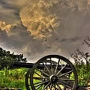 War Thunder - The Clouds Of War 2a - 4th New York Independent Battery Above Devils Den Gettysburg Art Print