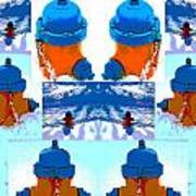 Warhol Firehydrants Art Print