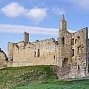 Warkworth Castle Panorama Art Print