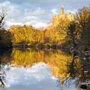 Warkworth Castle Reflected Art Print