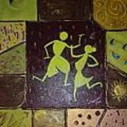 Warli Dance Art Print