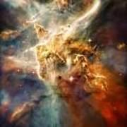 Warm Carina Nebula Pillar 3 Art Print by Jennifer Rondinelli Reilly - Fine Art Photography