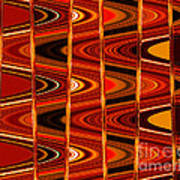 Warm Colors Lines And Swirls Abstract Art Print