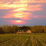 Warm Spring Sunset Art Print