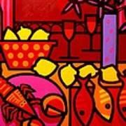 Warm Still Life At Window Art Print