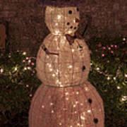 Warm Weather Snowman Art Print
