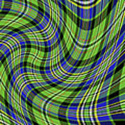 Warped Scott Ancient Green Tartan Art Print