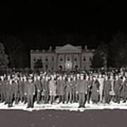 Warren Harding Elected President Election Night National Photo Co. White House Washington D.c.1920 Art Print