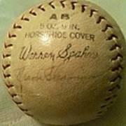 Warren Spahn Baseball Autograph Art Print