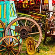 Warrenton Antique Days Wood Wheels And Wonders Art Print