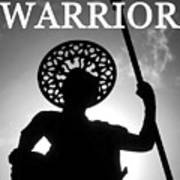 Warrior White Text Art Print