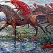 Warriors In Return Art Print by Prosper Akeni