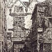 Warwick Lane, London, 19th Century Art Print