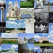 Washington D. C. Collage 2 Art Print