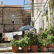 Washday In Dubrovnik Art Print