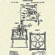 Washing Machine 1887 Patent Art Art Print by Prior Art Design
