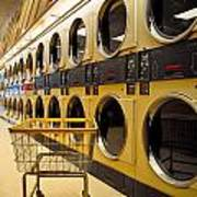 Washing Machines At Laundromat Art Print