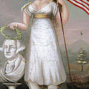 Washington & Liberty, C1810 Art Print