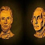 Washington And Lincoln Art Print