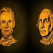 Washington And Lincoln Print by David Dehner