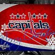 Washington Capitals Christmas Art Print