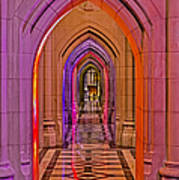Washington Cathedral Light Show Art Print
