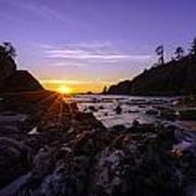 Washington Coast Sunset Dusk Art Print
