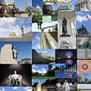 Washington D. C. Collage 3 Art Print