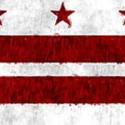 Washington D.c. Flag Art Print