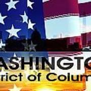Washington Dc Patriotic Large Cityscape Art Print