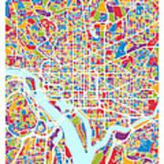 Washington Dc Street Map Art Print