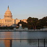 Washington Dc - Us Capitol - 011312 Print by DC Photographer