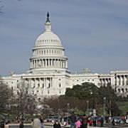 Washington Dc - Us Capitol - 01135 Print by DC Photographer