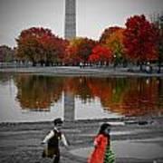 Washington Fall Children Art Print