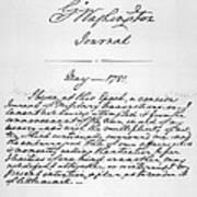 Washington: Journal, 1781 Art Print