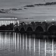 Washington Landmarks At Dawn II Art Print