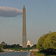 Washington Monument And Capitol Building-2 Art Print