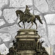 Washington Monument At Eakins Oval Art Print